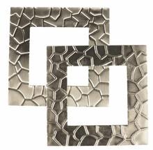 """Embellishments / Verzierungen Metal frame """"Modern"""" 5.5 x 5.5 cm"""