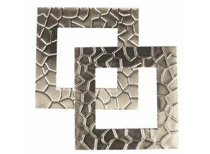 "Embellishments / Verzierungen Marco del metal ""Modern"" 5.5 x 5.5 cm"