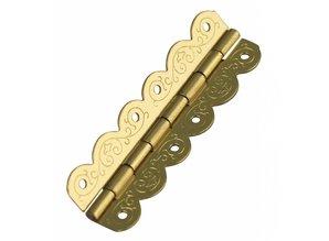 Embellishments / Verzierungen Decorative hinges, brass: 40x12mm