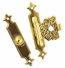 Embellishments / Verzierungen Ornamental messing låse,