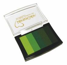 "FARBE / INK / CHALKS ... Stamp pad ""Versacolor""; green tones"
