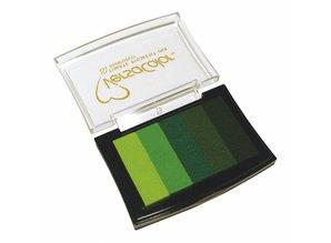 "FARBE / INK / CHALKS ... Inkpad ""Versacolor""; green tones"