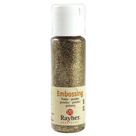 FARBE / INK / CHALKS ... Embossingspulver: gold, deckendy