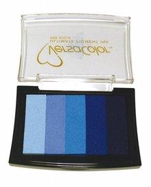 "FARBE / INK / CHALKS ... Stamp pad ""Versacolor"" blue tones"