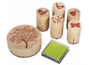 Stempel / Stamp: Holz / Wood Holzstempelset