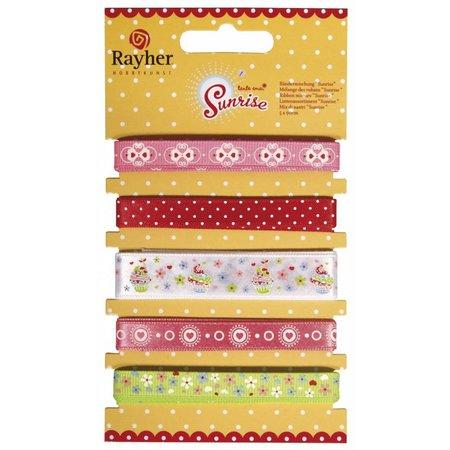 DEKOBAND / RIBBONS / RUBANS ... 5 decoratieve linten á 90cm