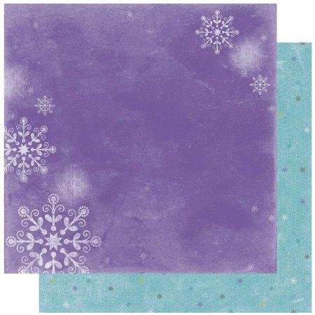 Designer Papier Scrapbooking: 30,5 x 30,5 cm Papier Scrapbooking-Papier :Winter Joy Frosty