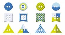 Embellishments / Verzierungen Pulsanti Diverse, due centimetri
