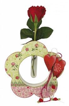 "Objekten zum Dekorieren / objects for decorating Pappmaché-Rahmen, ""Daisy"", 15x4cm"