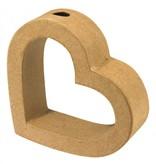 "Objekten zum Dekorieren / objects for decorating Marcos de papel maché, colgador de pared ""corazón"", 13.3 x12x4cm"