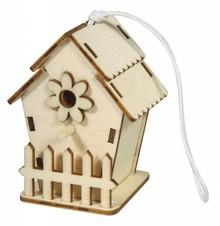Objekten zum Dekorieren / objects for decorating Uccello casa di legno, 6x4, 5cm