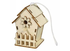 Objekten zum Dekorieren / objects for decorating Wooden bird house, 6x4, 5cm