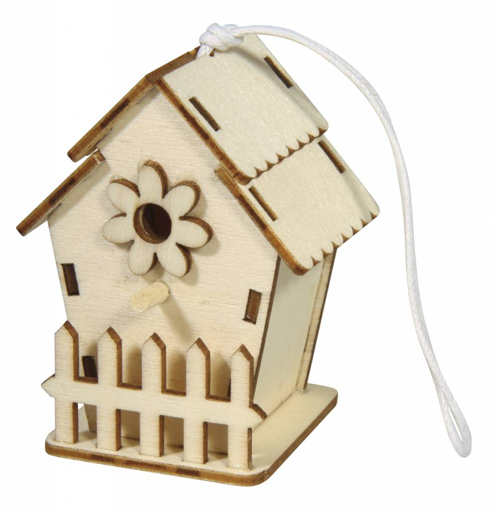 Wooden Bird House 6x4 5cm