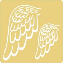 Stampini di goffratura, 65x65mm, ali d'angelo