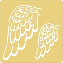 Schablonen und Zubehör für verschiedene Techniken / Templates Stampini di goffratura, 65x65mm, ali d'angelo