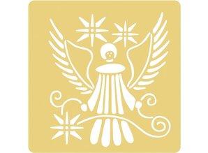 Schablonen und Zubehör für verschiedene Techniken / Templates Embossing stencils, 65x65mm, Angels