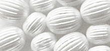 Schmuck Gestalten / Jewellery art Grooved beads, white, 8mm