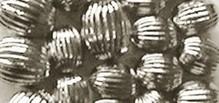 Schmuck Gestalten / Jewellery art Grooves perle, argento, 8mm