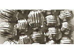 Schmuck Gestalten / Jewellery art Grooves perlas, plata, 8mm