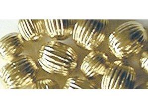 Schmuck Gestalten / Jewellery art Grooves pearls, gold, 8mm