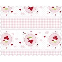 Cotton fabric: cuddly story, rosé
