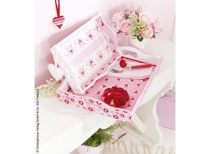 Tante Ema Cotton fabric: cuddly story, rosé