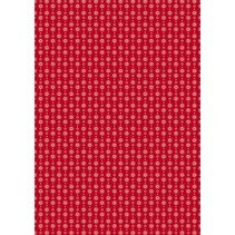 Cotton fabric: classical red heart garland,