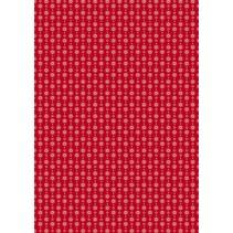 Tela de algodón: Guirnalda clásica corazón rojo,