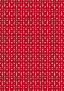 Tante Ema Cotton fabric: classical red heart garland,