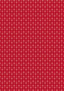 Tante Ema Tessuto di cotone: classica ghirlanda cuore rosso,