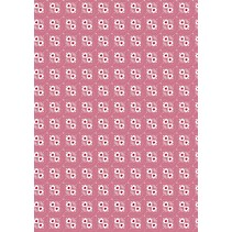 Tela de algodón: Los dulces del corazón, rosado
