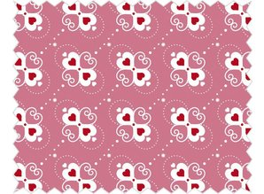 Tante Ema Cotton fabric: Heart sweets, rosé