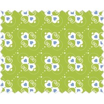 Cotton fabric: Heart candy apple green,