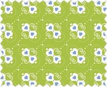 Tante Ema Tela de algodón: Corazón dulce de manzana verde,