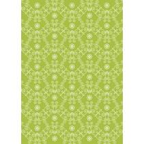 Tela de algodón: Flor verde guisante princesa,