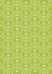 Tante Ema Tela de algodón: Flor verde guisante princesa,