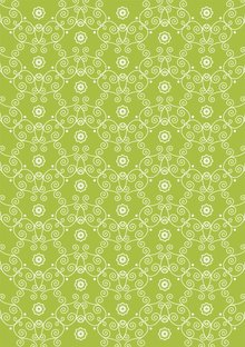 Tante Ema Tessuto di cotone: Blossom principessa verde primavera,