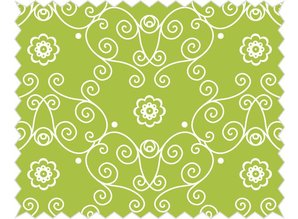 Tante Ema Cotton fabric: flower princess pea green,