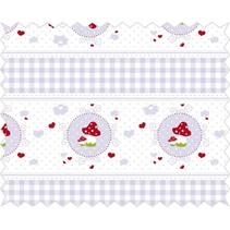 Tela de algodón: la historia de peluche, lila