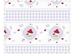 Tante Ema Cotton fabric: cuddly story, lilac
