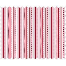 Cotton fabric: strip game, rosé