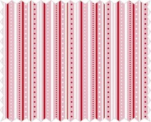Tante Ema Tessuto di cotone: gioco strip, rosati