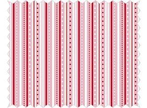 Tante Ema Cotton fabric: strip game, rosé