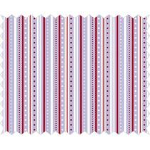 Cotton fabric: strip game, lilac