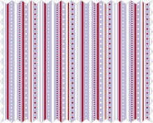 Tante Ema Cotton fabric: strip game, lilac