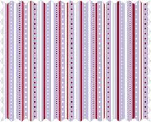 Tante Ema Tela de algodón: juego de tira, lila