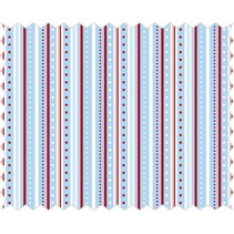 Cotton fabric: strip game, azure