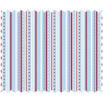 Tela de algodón: Tira de juego, azul