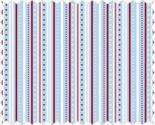 Tante Ema Baumwoll-Stoff: Streifenspiel, azurblau