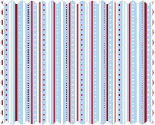 Tante Ema Tessuto di cotone: Striscia gioco, azzurro